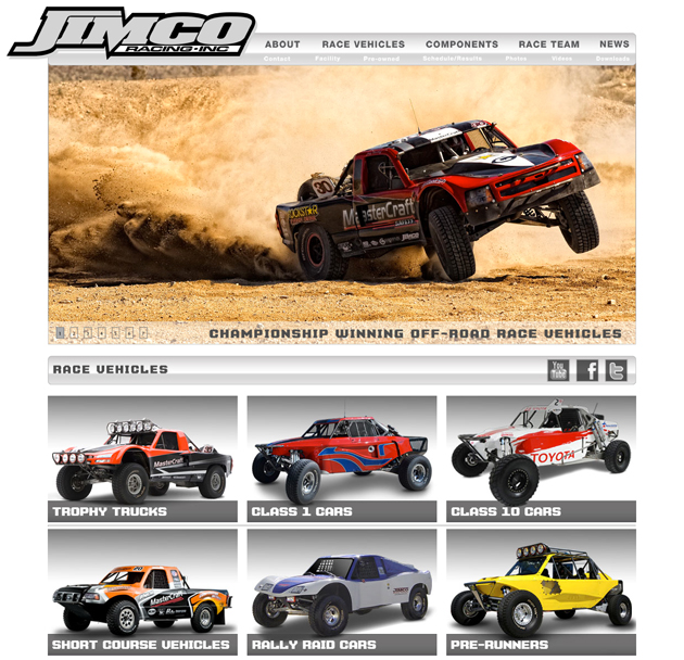 Jimco Racing Website – Showcasing World-Class Off-Road Race Vehicles