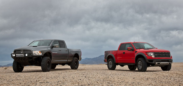 Duel In The Desert Ford Svt Raptor Vs Mopar Ram Runner