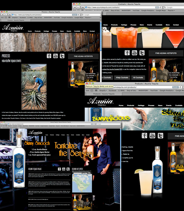 Azunia Tequila Website