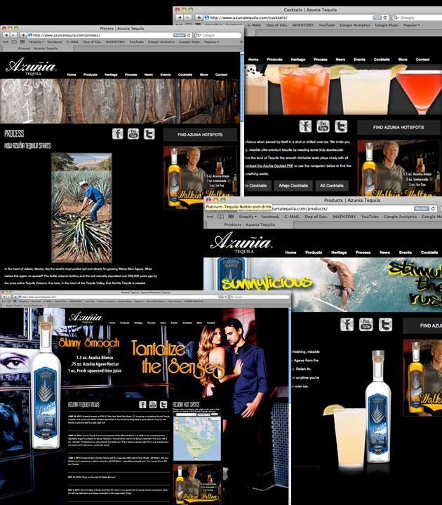 Azunia Tequila Website