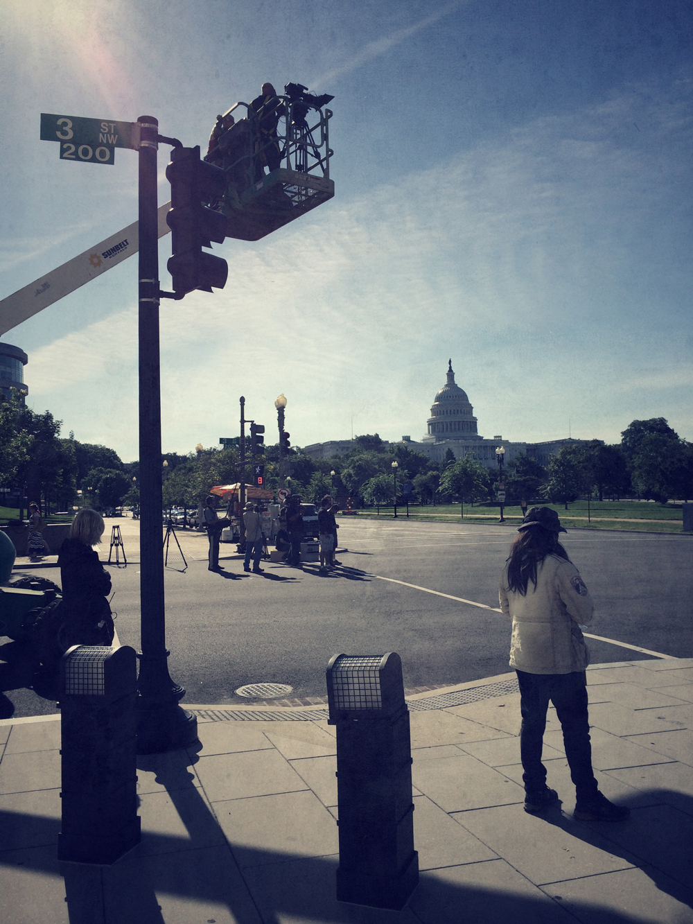 Mad Media Filming Capitol Building