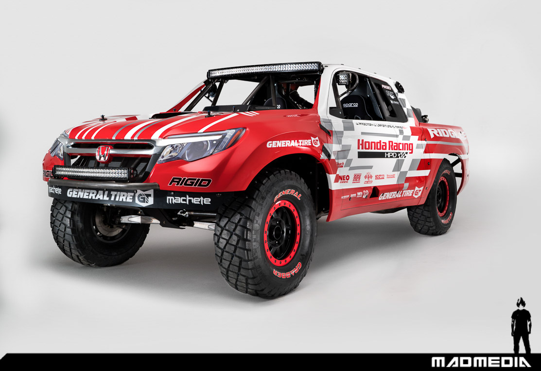 honda off road reveals unlimited ridgeline off road race vehicle madmedia. Black Bedroom Furniture Sets. Home Design Ideas
